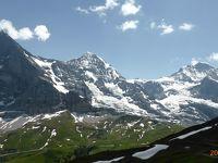 スイス 鉄道で一回り17日間 ( 5 ) メンリッヒェン アイガー北壁を見ながら、花のハイキング