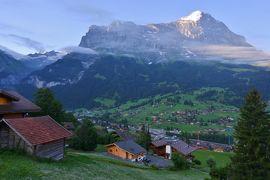スイス3大明峰とロマンティック街道の旅 1.グリンデルワルトから見るアイガー