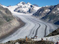 団塊夫婦の2019年アルプス絶景ドライブ&ハイキングー(13)アレッチ氷河の眺望を満喫・エッギスホルンへ