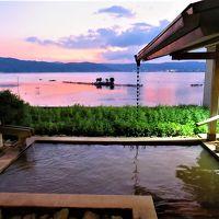 2019パワー充電-2【宿泊レポ☆64】 湖畔に建つ諏訪湖一望の展望露天風呂がある 双泉の宿 朱白
