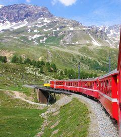 アルプス5大名峰と絶景列車の旅 2 レーティッシュ鉄道ベルニナ線に乗ろう(前編)