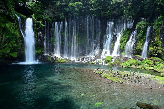 2019年8月の日曜日、ぷらっと日帰りで静岡県東部の富士宮市へ。<br /><br />まだまだ夏の暑さが続く8月の中旬、あまり遠出するのも億劫なので、どこか近場に面白そうなスポットがないかな~と物色。<br /><br />そこで、東海道新幹線の沿線にありアクセスが便利で、名勝「白糸の滝」で涼しさを感じられそうな、富士山のふもとに位置する「静岡県富士宮市」周辺を訪れてみることに。<br />また、いつもの「城巡り」という不治の病が発症し、ちょっとだけ「続日本100名城」に選定された城跡への登城も。。。<br /><br />世界遺産に選ばれた富士山の玄関口にあたるエリアには、どのような歴史・文化や自然が残されているのでしょうか???<br /><br /><br />〔続日本100名城登城記〕<br />●沼田城/名胡桃城/岩櫃城(上野国)<br /> 夏の盛りに上州北部へ避暑の旅《Part.2》~上州の真田三名城登城記~<br /> https://4travel.jp/travelogue/11525274