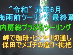 """""""令和"""" 元年6月 梅雨前ツーリング 最終章 内房総ツーリング 岬・切通し 保田メゴチの造り・枇杷"""