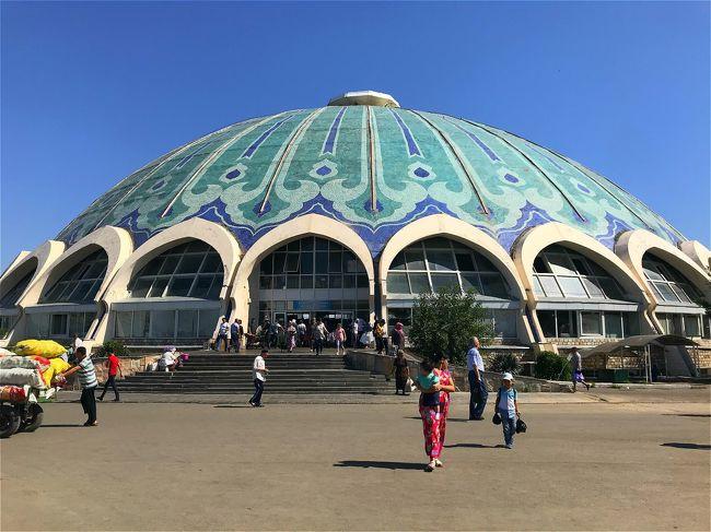 旅行7日目は後半戦のウズベキスタンはタシケントへ。<br />キルギスのビシュケクからタシケントへは早朝に着き、<br />いきなり空港で荷物預りがないと知り焦りましたが、<br />お天気の神様にはここの所見放されていますが、<br />旅の神様には未だ突き放されていないようで、<br />ここでも白タク運転手が救世主のように登場!<br /><br />ブハラへの国内線へのトランジットの間に訪れたタシケントですが、<br />10時間以上のトランジットの時間を目一杯フル活用しました。<br /><br />6/07(金)関空朝発→仁川観光→<br />仁川夕方発→アルマティ夜着(アルマティ泊/カザフスタン)<br />6/08(土)アルマティ観光(アルマティ泊/カザフスタン)<br />6/09(日)アルマティ→ビシュケク(ビシュケク泊/キルギス)<br />6/10(月)ビシュケク→イシククル湖(カラコル泊/キルギス)<br />6/11(火)カラコル→ソンクル湖(ソンクル湖泊/キルギス)<br />6/12(水)ソンクル湖→ビシュケク(ビシュケク泊/キルギス)<br />6/13(木)ビシュケク早朝発→タシケント観光→<br />タシケント夕方発→ブハラ夜着(ブハラ泊/ウズベキスタン)<br />6/14(金)ブハラ観光(ブハラ泊/ウズベキスタン)<br />6/15(土)ブハラ→サマルカンド(サマルカンド泊/ウズベキスタン)<br />6/16(日)サマルカンド観光(サマルカンド泊/ウズベキスタン)<br />6/17(月)サマルカンド→タシケント→タシケント夜発<br />6/18(火)仁川朝着→仁川昼発→関空夕方着