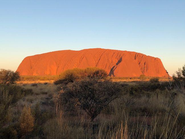 8月19日よりエアーズロックに登るのを目的にオーストラリアに行きました。<br />出発前に情報を探しましたがウルル登頂はツアーの紹介 旅行会社の広告くらいしか出て来ませんでしたし<br />出てきても 数年前の物が多く 登山が禁止になる最後の夏休み!(笑)<br />とか もちろん探せませんでした。<br />今から ウルル登頂を考えている方に少しでも参考になればと思い<br />めったに 投稿しませんが今回 旅行記を投稿します。<br />出国前は エアーズロックに登山者の渋滞ができ 車も駐車場からあふれかえり 何キロもの駐車の列があり 人の糞尿まで落ちてるとの報道もありましたので 遠くから眺めるだけでもと思い行きました。<br />10月末で登山禁止とのことで 2月にツアーを検索したが高額(笑)<br />航空会社も軒並み高値がついていましたが<br />シンガポール航空でトランジットの多い便が13万でありそれを購入<br />ホテルはbookingでDesert Gardens Hotelを3泊900ドルで予約<br />現地 ハーツのレンタカーで移動しました。<br />登頂に際し 駐車場の確保 現地での登頂の様子がわからないため<br />現地のツアーに入るべきか大変迷いましたが<br />とりあえずレンタカーで走ろうと思い <br />現地到着後<br />ホテルにチェックイン 登山可能か聞くと 強風で登れないとのこと<br />エアーズロックリゾート内を散策<br />スーパーマーケットで果物 水を買う<br />レストランも探すが ホテル隣接はどこも高そう(笑)<br />と言ってもリゾートエリアの中でのみ施設があるのでみんな高いのかな?<br />と思っていたら パイオニアBBQと言う リゾート内に入って<br />右に行き すぐのエリアにある BBQ屋さんが 安くて良かったっです。<br />もちろんOGビーフですが!<br />ステーキ肉にパン 食べ放題のサラダバー(サラダだけじゃなくフルーツ等もありました。)<br />が付いて30ドルくらいからありました!<br />ステーキソース甘くて口に合わず 塩コショウ強めで食べました。<br />ここお勧めです!<br /><br />Desert Gardens Hotelですが・・・。<br />147号室を割り当てられましたが・・・。<br />シャワーが少しぬるくなる程度しか温度が上がりません。<br />ほとんど水に近いです・・・。<br />おまけにエアコン 送風です。<br />温度も最高まで上げて 風量も最強にしましたが<br />体感温度は変わりません・・・。<br />唯一動いたのは クローゼットに入っていた小さなオイルヒーターです。<br />食事前に 電源を入れ 部屋を温めようとしますが<br />気休め程度しか暖かくなりません・・・。<br />滞在中 最低気温3度くらいのときがあり。<br />水のシャワーにエアコンなしは<br />正直 震えました。<br />備え付けの毛布を使い ユニクロ ウルトラライトダウンを着て寝ました。<br />部屋の変更も考えたのですが<br />交渉する時間 荷物を入れて 移動する時間がもったいなくて<br />そのまま使い チェックアウト時に一応申し出ました。<br />フロントでメモは取っていましたが<br />確信犯の気がします・・・。<br />10月末でウルル登れなくなるので<br />それまで 稼働率を上げたいのでしょう・・・。<br />どう考えても 都合よく<br />エアコンとシャワーが同時に故障しないと思います・・・。<br />チェックアウト時にフロントにクレームを入れ<br />帰国後 その旨 bookingにメールしました。<br />内容受理し 返信が来ましたが・・・。<br />その現場がわかる写真があれば添付してほしいとのこと・・・。<br />温度が上がらない シャワーが水しか出ない?<br />こんなの写真で写るの?<br />雛形があり それを貼り付けてるんでしょうが・・・。<br />あまりにも お粗末だと思います・・・。<br />チェックアウト時にクレーム入れていると記載しているのに<br />こう言う トラブルは現地で言わないと返金も難しい・・・。<br />返金うんぬんより これ クレーム入れないと<br />次の客 困るでしょう?<br />アメリカでもたまに シャワーダメな時があります。<br />写真に撮れるなら 説明も楽です。<br />写真の撮り方を bookingに問い合わせていますが返信はありません・・・。(笑)<br />内容 適当に