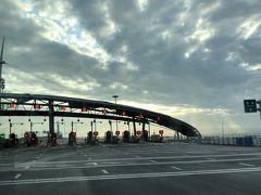 早朝珠海から港珠澳大橋を通って香港空港へ