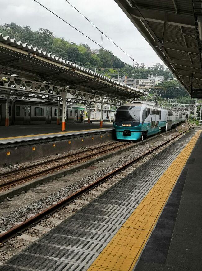 まいど代わり映えしない<br />4世代熱海旅行です。<br />熱海までの交通は<br />総武横須賀線快速から<br />乗換が便利な「戸塚」駅を経由して<br />東海道線快速アクティを利用。<br />やみつきになっております(*^-^*)<br /> 普通グリーン車利用平日980円。<br />写真は入線してきたスーパービュー踊り子<br /><br />宿泊は毎度アタミシーズンホテル(伊東園リゾート)<br />1人10,410円(税・サ込)<br />朝夕食付 3人1部屋×2部屋 天蓋付きベッドルーム<br />食べ放題の食事は夕食時アルコールも飲み放題<br />今宵のメインディッシュはステーキです。<br />成形肉って書いてありましたが、それで十分です。<br /><br />4世代旅行は4年連続4回目になりました。<br />次回の熱海旅行は母と私の誕生日月の10月に<br />2500円オフの予約が入ればアタミシーズンホテルだよ~ん。<br /><br />先月の熱海旅行の様子<br />https://4travel.jp/travelogue/11512396<br /><br />んもう 来週からバリ島旅行なんだよね(&gt;_&lt;)<br />https://4travel.jp/travelogue/11508555<br /><br /><br />