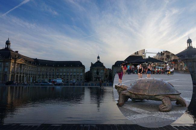 フランス2日目の9月17日(月)は、最後に07:14モンパルナス駅(Gare Montparnasse)~09:27ボルドー(Bordeaux Saint-Jean)の鉄道TGVに乗り、サン・テミリオンへ寄り、ボルドーへ行きます。<br /> 昨年は、シャンパーニュへ行きましたので、ワインで有名なボルドーへ行き、ワインを味わうことにしました。<br /> 今日は、ホテル・スターズ・ボルドー・ガール(H&#244;tel Stars Bordeaux Gare)に泊ります。<br />全体スケジュールは、<br />6月16日(日):パリ(in)(泊)<br />6月17日(月):サンテミリオン、ボルドー(泊)<br />6月18日(火):ペリグー、リモージュ、ブールジュ(泊)<br />6月19日(水):アンボワーズ、パリ(out)