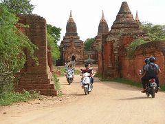 ミャンマー バガンの世界遺産遺跡巡りは、少し大きめのeバイクをお勧めします(2/3)