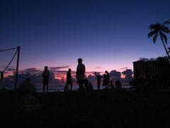 家族ハワイ旅行� アランチーノ、アサヒグリル、アラモアナ、ビーチ