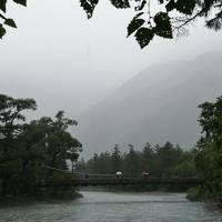 美しい長野の旅 3日目 大雨の上高地