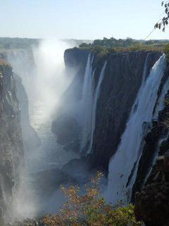 ビクトリアフォールズ2日目[後編] ビクトリアの滝ザンビア側 女一人旅