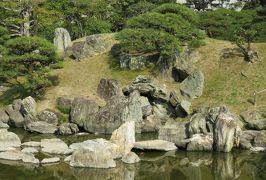 2018春、四国の百名城巡り(9/42):3月25日(9):徳島城(3):表御殿庭園、白鷺の営巣