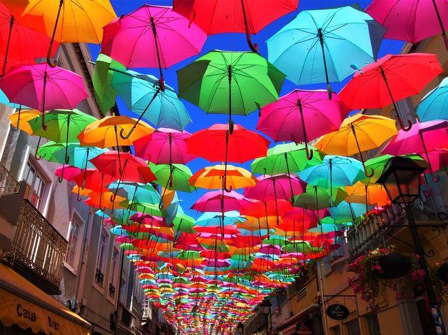 2019夏 ポルトガル・スペイン一人旅⑧【このために来たのよ!アゲタの傘祭りとコスタノバ編♪】