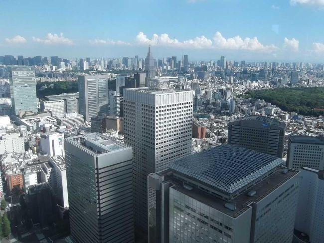 新宿に行き東京都庁舎展望室に昇ってきました.無料でなかなか良い眺望で,外国人にも知られているようで,多数来ていました.<br /><br />この日ではなく4月に新宿御苑に行き,撮った写真があるので,合わせて掲載します.日本庭園,フランス式庭園,イギリス式庭園,そして大温室などある,都心の広くて多彩な大庭園でした.<br />