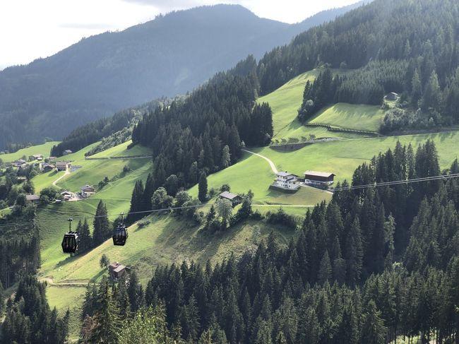 2019年夏休み,みさぱぱ夫婦はまたまたオーストリアへ,チロルのツィラタールZillertalとウィーンWienを訪ねました.今回はANAの羽田-ウィーン直行便でチロル10泊+ウィーン4泊の旅,チロルの山々のハイキングと古都の街歩き,そしてウィーンの博物館・美術館めぐりを存分に楽しみます.チロル滞在は日帰りで訪ねる目的地へのアクセスを考え,前半フューゲンに6泊,後半マイアホーフンに4泊と分けました.<br /><br />第2日目(8月23日)は宿泊先ホテル主催のハイキングに参加しました.みさぱぱ夫婦は2年前からハイキングをしていなかったので,リハビリのためにホテル主催の軽めなハイキングに参加することにしました.コースはシュピールヨッホバーンで麓駅から頂上駅まで乗り,そこから下山しながらハイキング,途中のゲオロスアルムで休憩し,ケーブルカーの中間駅まで下り,そこでケーブルカーに乗って麓駅に戻る予定です.足腰を慣らす予行演習的な距離で丁度良いなと考えました.ところが途中で思わぬハプニングが...<br /><br />----- 旅のお品書き -----<br /><br />■8月22日(木) いざチロルへ!ANA直行便とレイルジェットでツィラタール入り<br />(宿泊ホテル:Aktiv und Welnesshotel Haidachhof 6泊)<br />→8月23日(金) 予行演習?霧のフューゲンベルクをハイキング♪<br />□8月24日(土) 中世のパイプオルガン響くクーフシュタイン城塞と街歩き<br />□8月25日(日) 中世の街シュバーツで銀鉱山の冷涼坑内トロッコツアー♪<br />□8月26日(月) 秘境気分を満喫!200m級断崖のクントラー峡谷ハイキング<br />□8月27日(火) 最奥ツェム谷で石探しハイキングとクラウゼンアルムのヨーデル♪<br />□8月28日(水) 晴天のシュピールヨッホ散策そしてマイアホーフン街歩き<br />(宿泊ホテル:Aparthotel Thalerhof 4泊)<br />□8月29日(木) 再挑戦!エーデルヒュッテをめざし登山ハイキング<br />□8月30日(金) 絶景!オルプラーヒュッテをめざし登山ハイキング<br />□8月31日(土) パノラマ眺望!ペンケンベルクをハイキングで迷う?<br />□9月1日(日) いざウィーンへ!街歩きそして3年振りアイスグライスラー<br />(宿泊ホテル:Boutiquehotel Stadthalle 4泊)<br />□9月2日(月) 理系好みのウィーン技術博物館と街歩き<br />□9月3日(火) 不思議なオーストリア応用美術館とピカソ絵画のアルベルティーナ美術館,窓口カフェへ<br />□9月4日(水) 定番!ウィーン自然史博物館とウィーン美術史美術館,オペラのライブビューイング♪<br />□9月5日(木) 帰国フライト,ウィーン空港(機中泊)~<br /> 9月6日(金) ~羽田空港へ あ~あ帰国しちゃった!<br /><br />いつもながら拙い旅行記ですが,最後までご笑覧頂ければ幸いです(^^)<br />