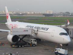 9月の九州(2)就航したばかりのJALエアバスA350ファーストクラスで福岡へ