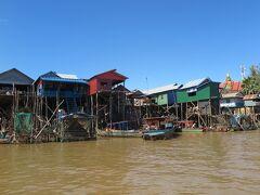 カンボジア・コンポンプルック 乾期の水上集落 -カンボジア5-
