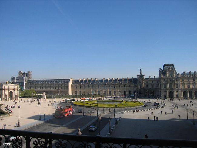 すっごくいいお天気のパリで、ルーブル満喫。