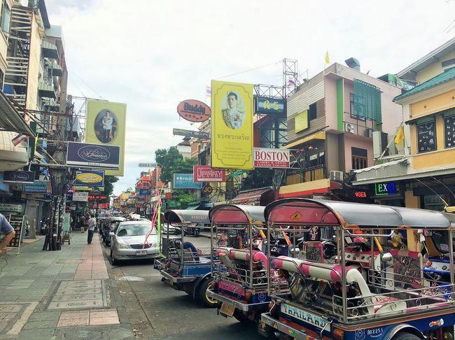 タイ料理、ニューハーフショー、カオサン通り、ワットプラケオ、アジアンティークなど、一泊二日ながらバンコクを堪能しました。<br /><br />【旅程】<br />7/24 <br />8:30 関空発<br />12:10 ドンムアン空港着<br />15:30 ホテルで仮眠<br />21:00 カリプソキャバレーでニューハーフショー<br />アドミラルスイーツバンコク泊<br /><br />7/25<br />10:00 エメラルド寺院<br />13:30 カオサン通り<br />17:00 アジアンティーク<br /><br />7/26<br />2:40 ドンムアン空港発<br />9:10 関空着<br /><br />【費用】<br />関空~ドンムアン(ノックスクート)15600円<br />ホテル 8486円<br />ニューハーフショー 4330円<br />レンタルWi-Fi 900円<br />その他 12000円<br />合計 41286円<br />