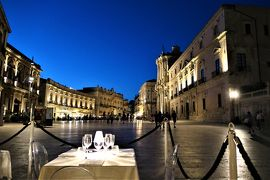 魅惑のシチリア×プーリア♪ Vol.456 ☆シラクーザ:煌めくドゥオーモ広場を眺めながら絶景ディナー♪