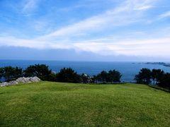 【みちのく潮風トレイルを歩く1】1-2 淀の松原から金浜まで。1日目後半はひろ~い芝生を歩く