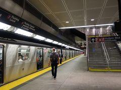 NYCを歩く。(6.8) 地下鉄の新線42th/Times Sqと34th/Hudson Yardsを結ぶ「7線」に乗る。