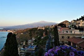 魅惑のシチリア×プーリア♪ Vol.518 ☆タオルミーナ:ジュニアスイートルームから美しい朝の風景♪