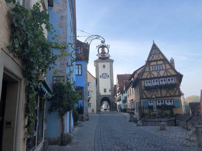 私はヨーロッパの歴史の中ではドイツの歴史に興味があり、以前からエルツ城とホーエンツォレルン城に行ってみたいと思っていました。今回このお城とノイシュバンシュタイン城や、かつて訪れたことのある街も観光するツアーを見つけたので参加しました。<br /><br />★主な旅程<br />・  9/6  (金) 東京(成田)発11:25  →JL407→16:30  フランクフルト<br />・  9/7  (土) フランクフルト→リューデスハイム→ライン川クルーズ→<br />      ザンクトゴアール→ヴィアーシェム→エルツ城観光→<br />      ルートヴィヒスハーフェン <br />・  9/8   (日) ルートヴィヒスハーフェン→ハイデルベルク散策→へッヒンゲン<br />      →ホーエンツォレルン城観光→へッヒンゲン→フュッセン <br />・  9/9   (月) フュッセン→ホーエンシュバンガウ→ノイシュバンシュタイン城観光<br />      →ヴィース→ヴィース巡礼教会観光→ロマンティック街道ドライブ<br />      →ローテンブルク<br />・  9/10  (火) ローテンブルク観光→ヴュルツブルク観光→フランクフルト空港<br />      →19:40 発→JL408<br />・  9/11   (水) 東京(成田)着13:55<br /><br />★今回利用したツアー<br />  H.I.S. Impressoドイツ満喫紀行6日間<br /><br />★旅の感想<br /> エルツ城とホーエンツォレルン城を観光するツアーはあまりないと思いますのでツアーに参加できて満足です。更にとても有名なノイシュバンシュタイン城やヴィース教会の素晴らしさも味わえて充実した旅でした。こうした少しオタク的なお城と一般的に人気のある場所をコンパクトにまとめてあるよく出来たツアーだと思います。<br /> また、かつて訪れたハイデルベルクやローテンブルクに再び来られたこともとても幸せに感じました。旅行中お天気は最終日以外は雨が降ったり止んだりでしたがお城はむしろ幻想的で中世の物語のようで忘れがたい景色となりました。<br /> 添乗員さんもしっかりした感じの良い方で信頼できました。ホテルや食事も特に問題もなく快適でした。観光地を含みながらも全体的に治安の良い地域の旅で心穏やかに過ごせたのもとても良かったと思います。