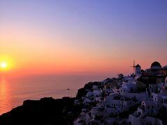 青い空・群青の海 エーゲ海での夏休み  (3)世界一と言われるイアの夕陽