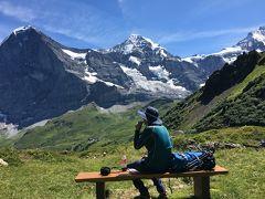 スイス アルプスの絶景とパリ、ウィーン観光18日間②メンヒスヨッホ、メンリッヒェン トレッキング
