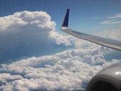 金山駅から中部空港へ。フライトはNH711便、新千歳空港へ飛ぶ。悪天候で揺れと到着遅延。