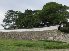 2018春、中国西部の百名城巡り(20/28):4月4日(6):萩城(6):指月山公園、狛犬、緑吉野、二の丸土塀