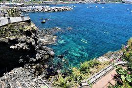 魅惑のシチリア×プーリア♪ Vol.551 ☆Aci Castello:黒いアーチ城 復元されたミニチュアのアーチ城♪
