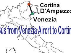 ベネチア空港(マルコ・ポーロ空港)からコルチナ・ダンペッツォへのバス移動