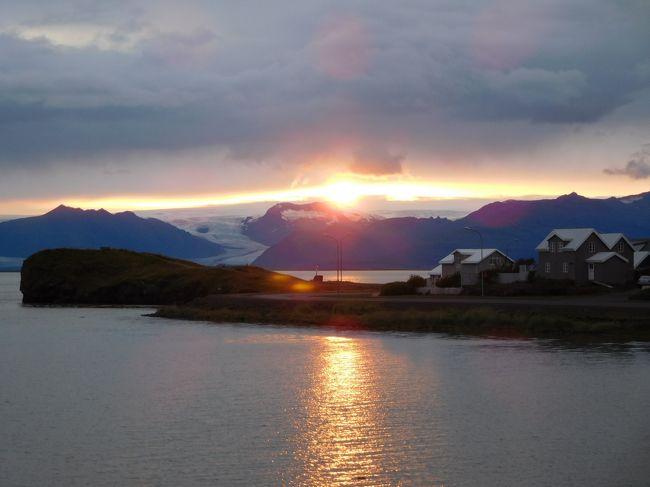 """2019/8/26(月)~9/6(金)の10泊12日でアイスランド&デンマークに行ってきました。アイスランドを一周ドライブ+経由地のコペンハーゲン観光です。6月以来しばらく旅行してなかったので、たっぷりと夏休みです♪<br /> 本旅行記は、ミーヴァトン湖から南部の町へプンまでを記載しています。主に1号線(リング・ロード)沿いに東部フィヨルドを抜け、再び約400kmの道のりをひたすら移動です。リングロードは途中で途切れ、海岸沿いの道はかなりの遠回りになるので、山沿いの未舗装路を抜けて行きましたが、思いがけない美しい景色を堪能できました。<br /> 長距離になるけどへプンまで移動したかったのは、アイスランドロブスター(手長エビ)が味わえる港町だから。へプンの町からは遠くに氷河も見ることができ、長距離移動した甲斐がありました。<br /><br /><旅程>(◆は本旅行記)<br />◇8/26(Mon):成田→コペンハーゲン<br />◇8/27(Tue):コペンハーゲン→ケフラヴィーク→ブルーラグーン→レイキャビク(約70km)<br />◇8/28(Wed):レイキャビク→アークレイリ(約400km)<br />◇8/29(Thu):アークレイリ→ダイヤモンドサークル観光(ゴーザフォス、デティフォス、ミーヴァトン湖周辺)→ミーヴァトン(約200km)<br />◆8/30(Fri):ミーヴァトン→へプン(約400km)<br />◇8/31(Sat):へプン→氷河&南海岸観光(レイニスファラ)→ヴィーク(約300km)<br />◇9/1(Sun):ヴィーク→南海岸観光(ディルホゥラエイ、スコガフォス、セーリャランスフォス)→シークレットラグーン→ゲイシール(約200km)<br />◇9/2(Mon):ゲイシール→ゴールデンサークル観光(ゲイシール、グトルフォス、シンクヴェトリル国立公園)→ケフラヴィーク(約150km)<br />◇9/3(Tue):ケフラヴィーク→コペンハーゲン、コペンハーゲン観光<br />◇9/4(Wed):コペンハーゲン観光<br />◇9/5(Thu):コペンハーゲン観光、コペンハーゲン→<br />◇9/6(Fri):成田着<br /><br /><ホテル><br />◇8/26(Mon) コペンハーゲン(Crowne Plaza Copenhagen Towers)<br />◇8/27(Tue) レイキャビク(Fosshotel Lind)<br />◇8/28(Wed) アークレイリ(Hotel Kea by Keahotels)<br />◇8/29(Thu) ミーヴァトン(Icelandair Hotel Myvatn)<br />◆8/30(Fri) へプン(Hotel Edda Hofn)<br />◇8/31(Sat) ヴィーク(Hotel Dyrholaey)<br />◇9/1(Sun) ゲイシール(Hotel Geysir)<br />◇9/2(Mon) ケフラヴィーク(BB Hotel Keflavik Airport)<br />◇9/3(Tue) コペンハーゲン(Mercur Hotel)<br />◇9/4(Wed) コペンハーゲン(Mercur Hotel)<br /><br /><飛行機><br />・8/26(Mon) NRT11:10→CPH15:30(SAS:SK984)<br />・8/27(Tue) CPH8:30→KEF9:45(SAS:SK595)<br />・9/3(Tue) KEF10:30→CPH15:35(SAS:SK596)<br />・9/5(Thu) CPH15:45→NRT9:35+1(SAS:SK983)<br />※2019/3/12予約、182,010円/人、HIS Webサイトにて<br /><br /><その他の事前予約><br />・レンタカー:8/27(Tue)10:00~9/3(Tue)10:00、56,435円、コンパクト、Europcarで予約<br />・ブルーラグーン:8/27 12:00~13:00でComfort(入場料、タオル、ドリンク1杯)をWEB予約(23,980isk=21,997円)<br />・SIMカード: """"Vodafone イギリス他ヨーロッパ各国対応 500MB*10日チャージ済み 500MB*10日間もしくは10回繰返利用可能 """" amazonで購入(1950円)"""