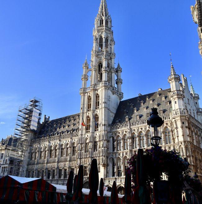 一年前にANAの特典航空券取りから始まった旅行準備<br />オリーブちゃんパパは出張なんぞで毎年のようにドイツに行ったりしていますが、オリーブちゃんママはヨーロッパ上陸はお初)^o^(<br /><br />まずは降りたのベルギーブリュッセル<br />チョコとビールとガッカリ名所を楽しみましょう<br /><br />~ブリュッセル 編~<br />成田からブリュッセル -ANA特典ビジネス-<br />ブリュッセルマリオット宿泊<br />~ヴェネチア編~<br />ブリュッセルからミラノ-ブリュッセル航空特典-<br />ベルトラ で日帰りベネチアツアー参加<br />ミラノ43ステーションホテル宿泊<br />~ミラノ編~<br />GetYourGuideで「最後の晩餐」、スフォルツェスコ城、ドゥオーモツアーに参加<br />ミラノからフィレンツェへ-イタロ -<br />フィレンツェ ホテル ロンバルディア 宿泊<br />~トスカーナ 編~<br />ベルトラ でモンタルチーノ  ワイナリー ツアー参加<br />フィレンツェからローマへ-イタロ -<br />~ローマ編~<br />バチカン、コロッセオ、映画天使と悪魔ゆかりのスポット観光<br />Seer in Nazionaleアパートメント 宿泊<br />ローマへ-アリタリア特典航空券-<br />~ロンドン編~<br />大英博物館見学<br />シェラトン・ロンドンヒースロー 宿泊<br />羽田空港へ-ANA特典航空券-