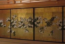 2018春、兵庫と京都の名城巡り(3/14):5月4日(3):篠山城(3):大書院の展示品、鬼瓦、屏風絵、鐘、板襖