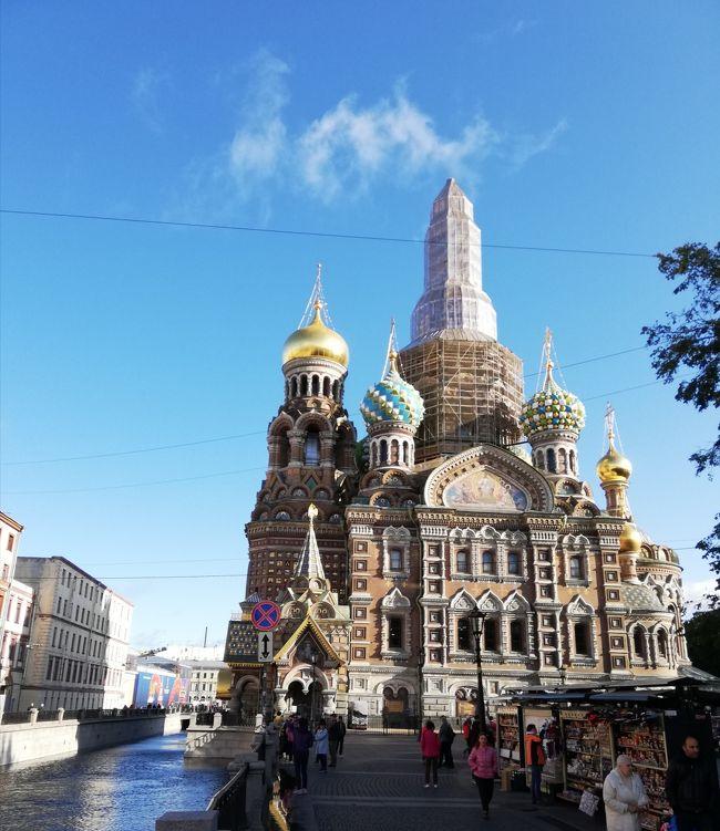 モスクワ~サンクトペテルブルグ観光<br /><br />3日目  サンクトペテルブルグ<br /><br />エルミタージュ美術館とペテルゴフへ行く。<br /><br />エルミタージュ美術館は10:30からなので、その前に市内散歩に出掛ける。