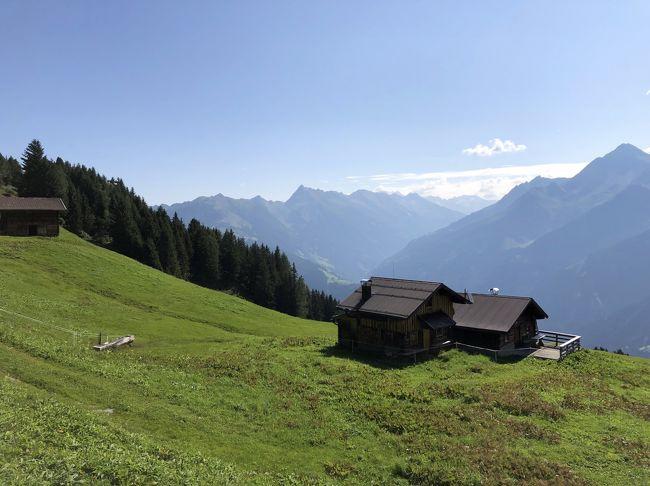 2019年夏休み,みさぱぱ夫婦はまたまたオーストリアへ,チロルのツィラタールZillertalとウィーンWienを訪ねました.今回はANAの羽田-ウィーン直行便でチロル10泊+ウィーン4泊の旅,チロルの山々のハイキングと古都の街歩き,そしてウィーンの博物館・美術館めぐりを存分に楽しみます.チロル滞在は日帰りで訪ねる目的地へのアクセスを考え,前半フューゲンに6泊,後半マイアホーフンに4泊と分けました.<br /><br />第10日目(8月31日)チロル滞在の最終日はペンケンベルクPenkenbergへハイキングに行きました.ペンケンバーンPenkenbahnで頂上駅まで登り,2017年夏とは別コースでペンケンヨッホPenkenjochを目指しました.ペンケンはどのコースを歩いても,チロルの雄大な山々と緑あふれるアルムのすばらしい景色を堪能できました.今回はなんと途中でコースを外れかけ,一瞬迷いそうになったのですが...続きは本旅行記で♪<br /><br />----- 旅のお品書き -----<br /><br />■8月22日(木) いざチロルへ!ANA直行便とレイルジェットでツィラタール入り<br />(宿泊ホテル:Aktiv und Welnesshotel Haidachhof 6泊)<br />■8月23日(金) 予行演習?霧のフューゲンベルクをハイキング♪<br />■8月24日(土) 中世のパイプオルガン響くクーフシュタイン城塞と街歩き<br />■8月25日(日) 中世の街シュバーツで銀鉱山の冷涼坑内トロッコツアー♪<br />■8月26日(月) 秘境気分を満喫!200m級断崖のクントラー峡谷ハイキング<br />■8月27日(火) 最奥ツェム谷で石探しハイキングとクラウゼンアルムのヨーデル♪<br />■8月28日(水) 晴天のシュピールヨッホ散策そしてマイアホーフン街歩き<br />(宿泊ホテル:Aparthotel Thalerhof 4泊)<br />■8月29日(木) 再挑戦!エーデルヒュッテをめざし登山ハイキング<br />■8月30日(金) 絶景!オルプラーヒュッテをめざし登山ハイキング<br />→8月31日(土) パノラマ眺望!ペンケンベルクをハイキングで迷う?<br />□9月1日(日) いざウィーンへ!街歩きそして3年振りアイスグライスラー<br />(宿泊ホテル:Boutiquehotel Stadthalle 4泊)<br />□9月2日(月) 理系好みのウィーン技術博物館と街歩き<br />□9月3日(火) 不思議なオーストリア応用美術館とピカソ絵画のアルベルティーナ美術館,窓口カフェへ<br />□9月4日(水) 定番!ウィーン自然史博物館とウィーン美術史美術館,オペラのライブビューイング♪<br />□9月5日(木) 帰国フライト,ウィーン空港(機中泊)~<br /> 9月6日(金) ~羽田空港へ あ~あ帰国しちゃった!<br /><br />いつもながら拙い旅行記ですが,最後までご笑覧頂ければ幸いです(^^)<br />