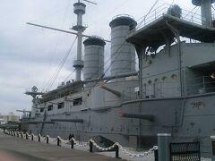 横須賀の戦艦三笠と,後日に原宿の東郷神社に行った