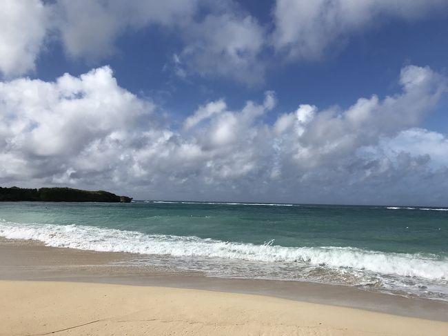 夫の短い休みが取れたので沖縄に行くことに。<br />沖縄は何度か行ったことありますが、前回は朝一の飛行機で羽田から飛び最終便で帰るという超弾丸日帰り旅だった沖縄。<br />今回はのんびりしたい。<br />でも台風18号接近中で旅行どうなるのかしら~?<br />帰りの飛行機は欠航になるかもしれない不安を抱えたまま当日を迎えました。<br /><br /><br /><br />