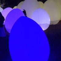メッツァビレッジで光のイベント(2018年12月)