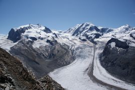 スイス アルプスの絶景とパリ、ウィーン観光18日間④-2 ゴルナーグラート 氷河とトレッキング