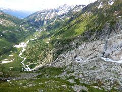 アルプス5大名峰と絶景列車の旅 8 フルカ峠と消滅寸前のローヌ氷河