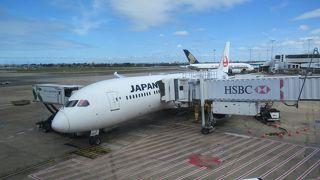 JAL772便でシドニーから成田に帰ります。
