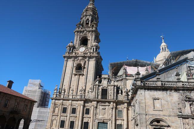 昨年始めたスペイン・サンチアゴ巡礼フランス人の道。去年はフランス国境から峠越えでログローニョまでの180キロを歩いた。今年は続きをするかどうしようと迷って、休みが2週間もとれないので、とりあえず、サンチアゴまでの最後の区間を歩くことにした。<br />サリアから最後の100キロを行くのが一般的だが、それでは物足らないので、ガリシア州に入る峠オセレブレイロからの160キロを7日間で歩くことにした。<br />今年は足マメ対策はしっかり、アルベルゲとペンションを組み合わせて、地元のB級グルメを楽しんで13日の旅をして、巡礼証明書をゲット。<br />来年以降、暇を見つけて残りの道を行こうか。<br /><br />日程<br />9月4日 KIX CX595/CX315 香港経由マドリード着9月5日朝 <br />9月5日 マドリード・チャマルティン駅 鉄道(Renfe) レオン泊<br />9月6日 レオンーALSAバスーPederafita do Cerebreiro 徒歩4キロ  オセレブレイロ泊<br />9月7日 巡礼開始 オセレブレイロ~トリアカステラ 20キロ<br />9月8日 トリアカステラ~サリア~バルバデオ 21キロ<br />9月9日 バルバデオ~ポルトマリン~ゴンザル  27キロ<br />9月10日 ゴンザル~パレスデレイ~メリーデ 32キロ<br />9月11日 メリーデ~アルズア~オカレ 20キロ<br />9月12日 オカレ~オペデロイゾ~ラコバージャ 20キロ<br />9月13日 ラコバージャ~サンチアゴデコンポステーラ 12キロ <br />9月14日 サンチアゴデコンポステーラ 飛行機 マドリード<br />9月15日 マドリード CX372/CX502 KIX 9月16日着<br />ーーーーーーーーーーーーーーーーーーーーーーーーーーー <br /><br />その10は9月13日 サンチアゴに着いた<br />巡礼事務所で4時間待ちで巡礼証明書をもらった。