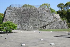 2018春、岡山と兵庫の百名城巡り(10/15):4月20日(10):赤穂城(5):天守台、本丸御殿跡、庭園
