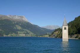 2019年ドイツ&オーストリアハイキングー7 イタリアまでちょっとお買い物 イタリアはやっぱりお洒落~&湖に沈んだ教会の鐘楼見学