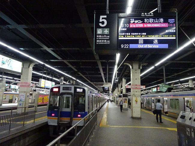 昨年の夏、所用で大阪に出かけた際、不意に空き時間ができて、すかさずアドリブで大阪南部のローカル支線に乗りに行きました。<br /><br />https://4travel.jp/travelogue/11401469<br /><br />あのときは完全ノープランだったので、行けるところまで行こうと思ったら意外とスムーズに乗換ができて、南海本線の支線のうち和歌山港線を除いてすべて乗ることができました。<br /><br />そして今年、再び同じ用事で大阪へ。<br />今回は勝手がわかっていたので(笑)、最初から予定を組んでおきました。<br />しかも、今回は翌日休みを取っての行動。平たくいえば、いつもの用事のついで・・・<br /><br />行き先は、その時の続きです。和歌山の沿岸にあるローカル線を攻めてみようと思います。<br /><br />まずは、昨年時間切れで乗れなかった和歌山港線に乗ります。<br />この路線、現在は和歌山港と徳島港をむすぶ南海フェリーとの接続に特化した路線で、かなりダイヤが偏っています。<br />ちょうどいい電車がなんばから直通の特急サザンだったので、これを利用することにしました。<br />考えてみれば、南海本線をまともになんばから和歌山市まで通しで乗るのも久しぶりなのでした。